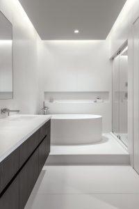 Modern Soaking Tub in New Remodel