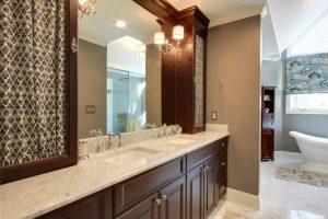 Cherry Cabinet Master Bath Remodel