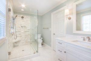Beautiful White bathroom remodel